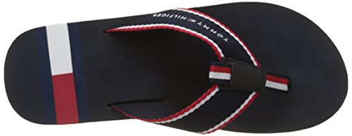 Tommy Hilfiger Men's Corporate Flag Beach Sandal Flip Flops Blue (Midnight 403) W38IZw3R