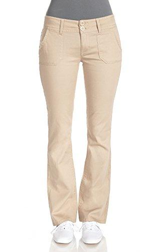 WallFlower Juniors Legendary Bootcut Chino Pants in Khaki Size: 13