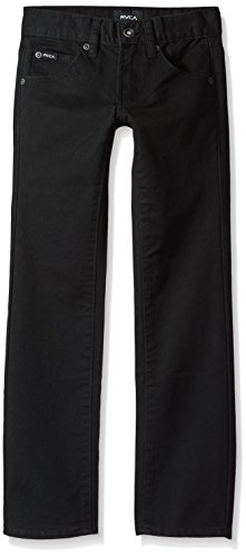 - RVCA Boys' Big Daggers Twill Jean, Black, 23