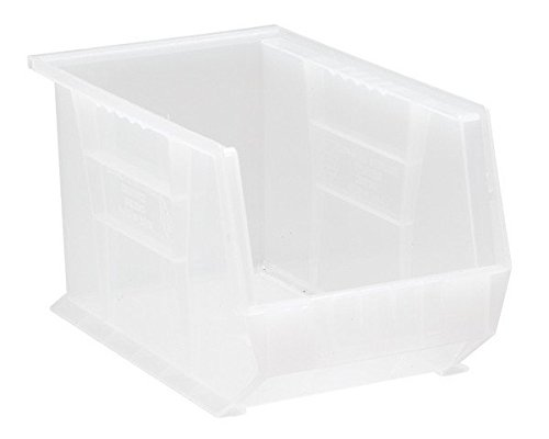 Quantum Storage QUS242CL Ultra Stack & Hang Bin44; Clear - 13.62 x 8.25 x 8 in.