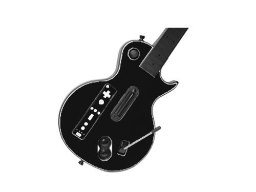 Guitar Hero III 3 (GH3) for Nintendo Wii Skin - NEW - MATTE BLACK system skins faceplate decal mod