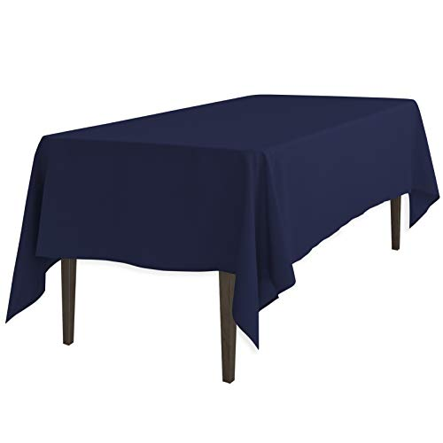 LinenTablecloth 60 x 126-Inch Rectangular Polyester Tablecloth Navy