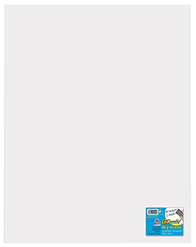 (GoWrite Dry Erase Poster Board, 22 X 28 in, 12 Point, Premium White, Pack of 25 )