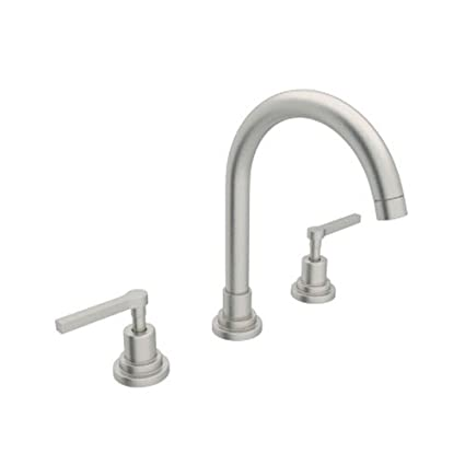 Incroyable Rohl A2208LMSTN 2 A2208Lm 2 Lombardia Widespread Bathroom Faucet With Metal  Lever Handles,