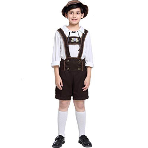 Oktoberfest Boys Stage Performance Costumes Halloween Alps Folk