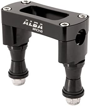 TRX 400EX Compatible with Honda Black 740 BB 1 Black Steering Stem with 7//8 Anti Vibe Bar Clamp