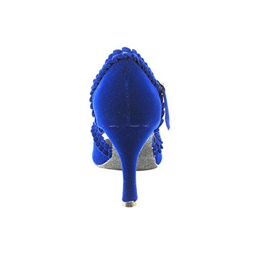 Party Sera Sera7001 Comfort Abito Da Sera Pompa, Scarpe Da Sposa: Scarpe Da Ballo Da Ballo Per Donna 2,5 E 3 Tacco, Salsa, Tango, Latino, Altalena Salsa Tango Swing Latino 7001- Velluto Blu