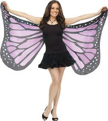 [Soft Butterfly Wings Costume Accessory,Purple, OS] (Easy Creative Halloween Costumes Adults)