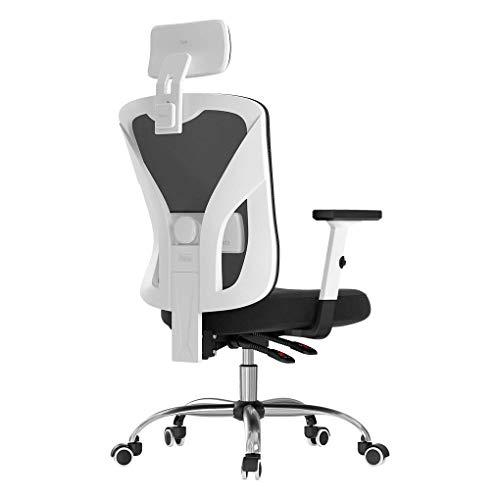 31sM7hyesOL. SS500 Diseño ergonómico: el diseño único imita la columna vertebral humana. El respaldo de la silla puede controlar su postura en cualquier momento, para asegurar la alineación de la columna y el soporte de la postura de la espalda baja y aliviar su dolor de espalda. Varios ajustes: las diversas características de ajuste le brindan un mejor soporte mientras está sentado en nuestra silla ergonómica de oficina. Brazos regulables en altura, soporte lumbar, reposacabezas. Un ángulo de inclinación de 90 a 150 grados. Material de malla transpirable: el material de red diseñado con el asiento con la estructura de aire correcta permite un flujo de aire que proporciona una posición sentada fresca y cómoda. El aire fresco circula a través de la red y mantiene la espalda libre de sudor, lo que le permite sentarse cómodamente en la silla durante más tiempo que las sillas convencionales.