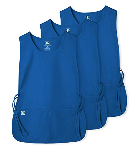 (Adar Unisex Cobbler Apron (3 Pack) with 2 Pockets / Adjustable Ties - Available in 30 Colors - 7023 - RYL - R)
