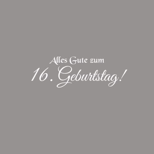 Alles Gute zum 16 Geburtstag: Gstebuch zum 16 jahre Geburtstag Gste buch party geschenkideen deko dekoration geburtstagsdeko zubehr geschenk zum 16 ... mdchen junge Cover Grau (German Edition)