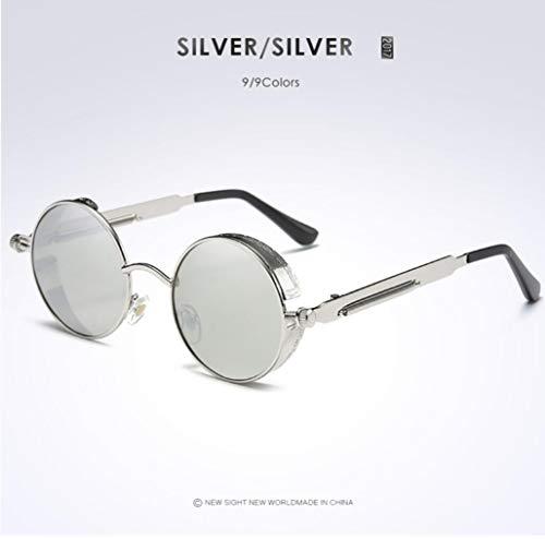 protección Opcional de UV UV400 polarizadas silverframesilver Star Gafas de Gafas Hombre Sol goldframegreen para Ciclismo vUaz7an