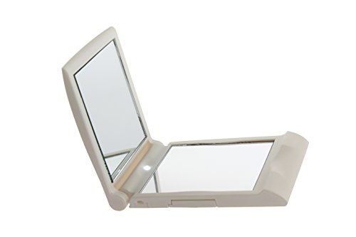 HOMEIMAGE TOUCHBeauty LED Compact Mirror with 2 mirrors 1X 2X , AUTO LED on off