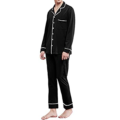 Hot Promstar Pajama Set for Men Nightgown Sleeves Two Pieces Cotton 95% hot sale