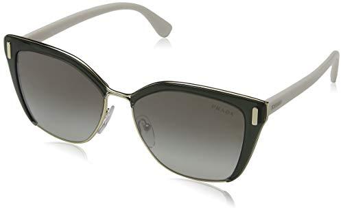 Prada Women's Square Glasses, Transparent Grey/Grey Silver, One Size