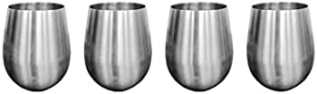JustNile 304 Stainless Steel 18 Ounce Wine Glasses