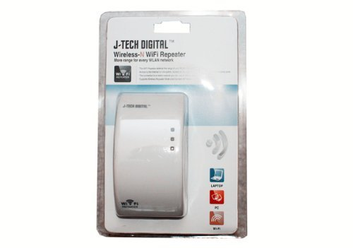 Network Router Range Expander - J-Tech Digital Premium Quality 300Mbps Wireless Wifi Repeater IEEE 802.11N Network Router Range Expander