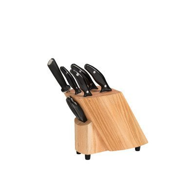 Stratus Culinary 7-Piece Ken Onion Rain Knife Block Set, Brown by Stratus Culinary
