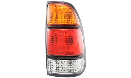 Evan-Fischer EVA15672012648 Tail Light for Toyota Tundra 00-06 RH Assembly Amber/Clear/Red Lens W/ Standard Bed Regular and Access Cab Right Side Replaces Partslink# TO2801161, TO2801129