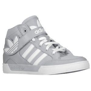 Adidas Hard Court Big Trefoil Logo 2 Junior High Top Sneaker Trainers Grey  White G99470 ( 25b673d80877
