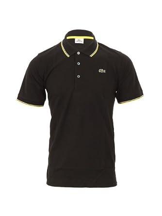 5e99b353 Lacoste Sport Lacoste YH7900 Noir Tipped Polo Shirt, Size 3: Amazon.co.uk:  Clothing