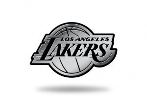 Auto Lakers - Rico Industries NBA Los Angeles Lakers Chrome Finished Auto Emblem 3D Sticker