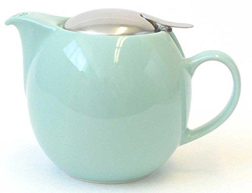 Bee House 26oz Round Ceramic Teapot (Aqua Mist)