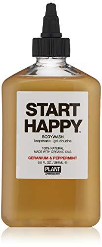 Plant Apothecary Get Happy Botanical Aromatherapy Body Wash, Geranium & Peppermint