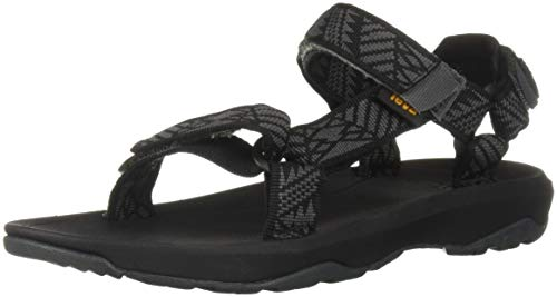 Teva Boys' Y Hurricane XLT 2 Sport Sandal, Boomerang Black, 4 Medium US Big Kid