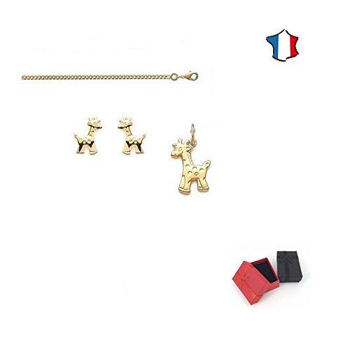 Collar Jirafa pendientes d colgante y cadena 38cm