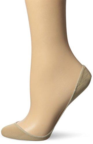 No Nonsense Women's Microfiber Low Cut Ballerina Liner, Nude, 4-9