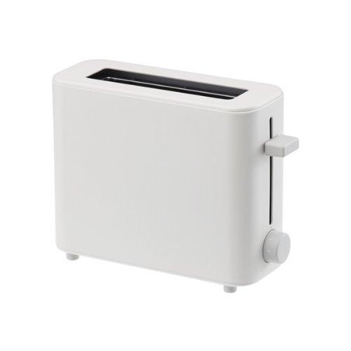 PLUS MINUS ZERO Toaster 1-Slice White XKT-V030(W)