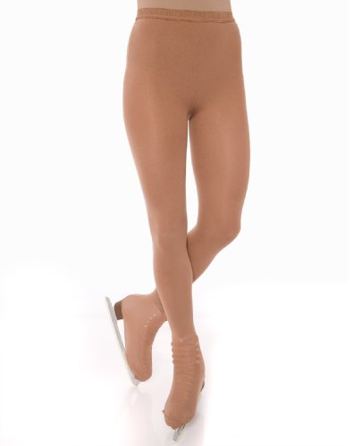 Danskin Women's Ultradurable Over-The-Boot Skate Tight,Classic Light (Heavyweight Nylon Tights)