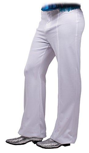 SR80111 (Large, White) Bellbottom Disco Pants