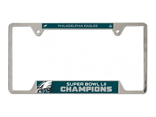 NFL Philadelphia Eagles Super Bowl LII Champions Metal License Plate Frame (Frame Bowl Super)