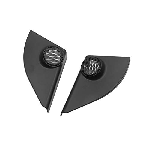 uxcell Pair Black Car Speaker Trim Cover Tweeter Protector for 2014-2017 Toyota RAV4 by uxcell (Image #1)'