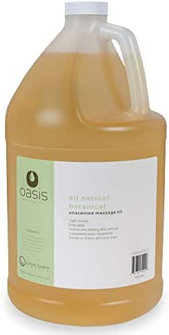 OASIS Unscented Massage Oil - All Natural Botanical Light Texture (will never stain)