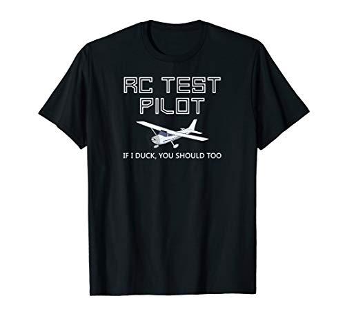 RC Plane Test Pilot Funny Radio Control Hobby T-shirt (Rc Jet Turbine Planes For Sale Uk)