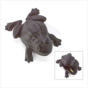 Garden Frog Outdoor Hide A Key Hider Cast Iron Charming