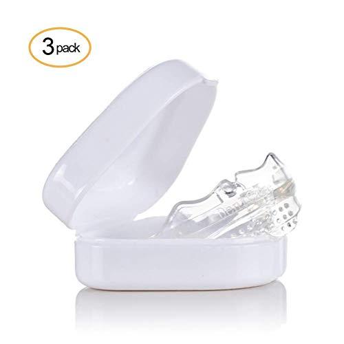 Orthodontic, Three-Stage Braces 4D Orthotics, Transparent Mouthguard Bit Guard Sports Adult Men Women Junior Youth White Transparent Clear Colorless 3 Pieces (Formen Der Gesichter)