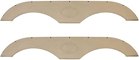 4 Colors to Choose from Gray, Single RecPro Tandem Trailer Fender Skirt for RVs Campers and Trailers