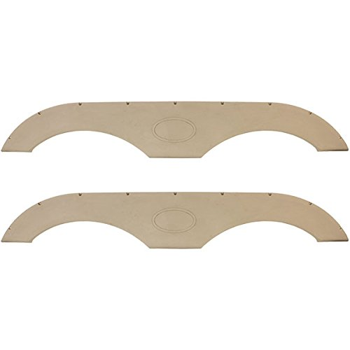 - Pair of RecPro Tandem Trailer Fender Skirt in Tan for RVs, Campers and Trailers