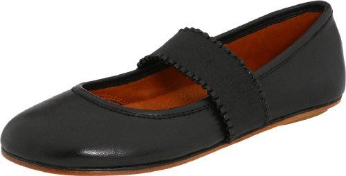 Gentle Souls Gabby Ballet Flat,Black Leather,8 M US
