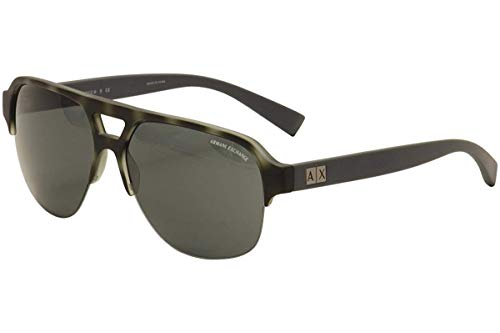 Armani Exchange AX4056S Sunglasses 820387-59 - Matte Havana Smoked Pearl Frame, Grey