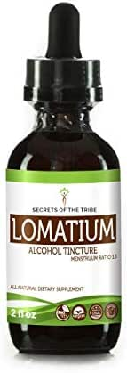 Secrets Of The Tribe. Lomatium Alcohol Tincture (Liquid Drops) 663 mg Organic Lomatium (Lomatium Dissectum) Dried Root (2 Fl Oz), Immune System Support Supplement