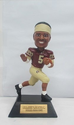 Jameis Winston Florida State Seminoles COLLEGE LEGENDS FIGURE #14 Trophy Pose Bobble Head Doll #/144 Exclusive to Carroll's Sports Cove