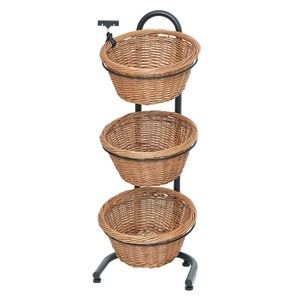 3-1 Tiered Basket Stand Wicker