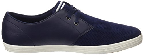Neve Leather Oxford Bianco Fred perf Uomo Stringate Byron Perry Carbone Scarpe Blu Low Suede blu t88f6qw