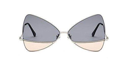 retro inspirées soleil cercle lunettes Lennon en Cendres vintage Thé style du polarisées de Léger métallique Noires Sur rond w1wtv5Y