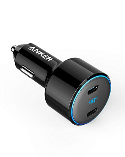 USB C Car Charger, Anker 48W 2-Port PIQ 3.0 Fast Charger Adapter, PowerDrive+ III Duo with Power Delivery for iPhone 11/11 Pro/11 Pro Max/XR/XS/X, Galaxy S10/S9, Note 9, Pixel 3/2, iPad Pro and More